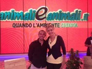 con Licia Colò alla trasmissione Animali ed Animali