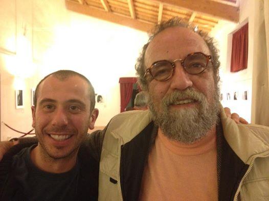 con l'amico Giobbe Covatta