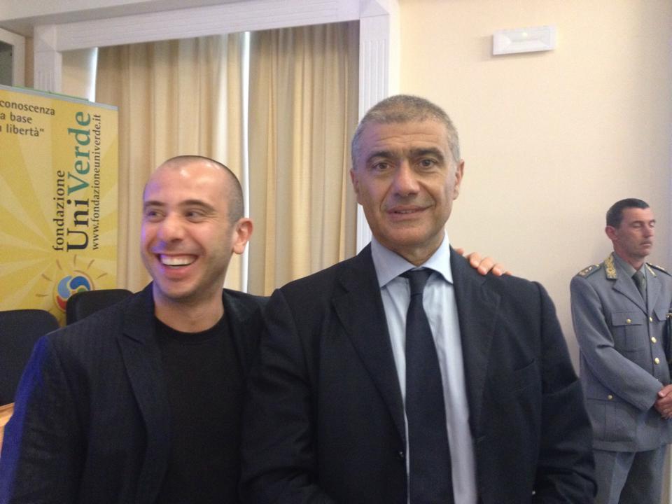 con Alfonso Pecoraro Scanio  al Green Pride Toscana