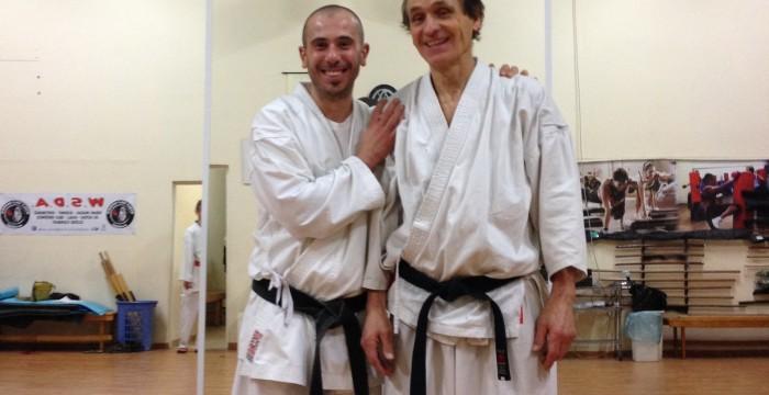 col mio Maestro di Karate Ivo Faralli