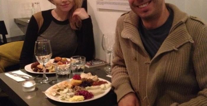 con l'amica ed attrice vegan Loredana Cannata