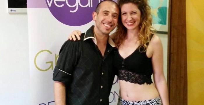 con l'amica ed  attrice Vegan Federica Colucci