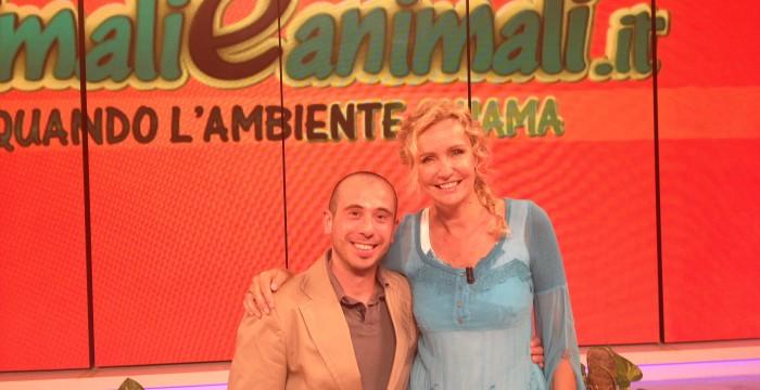 con Licia Colò nella sua trasmissione Animali ed Animali  a parlare della questione Olio di palma