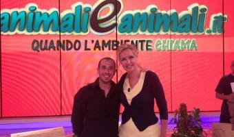 con Licia Colò nella sua trasmissione Animali ed Animali a parlare di green washing