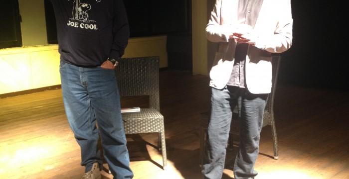 durante uno show insieme a Giobbe Covatta