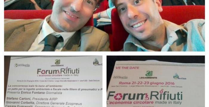 Forum nazionale dei Rifiuti 2016 sempre con l'amico Ciacci